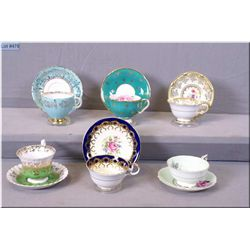 A selection of collectible cups and saucers including, Royal Albert, Aynsley, Paragon and Royal Graf