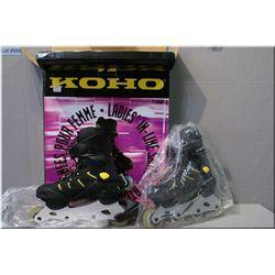 A pair of ladies Koho in-line skates, NIB, size 7