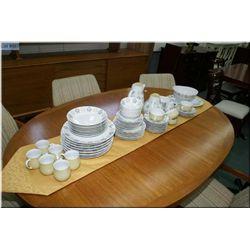 Vintage German porcelain dinner service including settings for eight of dinner plates, side plates,