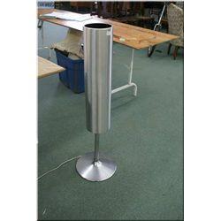 Modern brushed nickel floor standing lamp