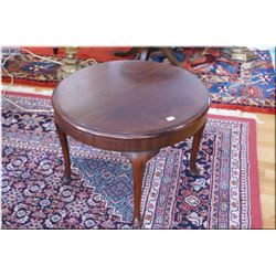 Antique round occasional table on cabriole leg supports