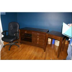 """Modern computer desk with electrical hook ups, drawers, pullout trays made by """"Hooker Furniture"""" plu"""