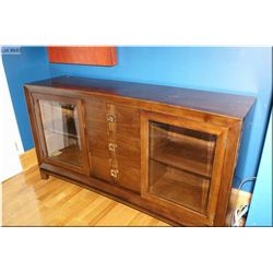 """Modern office credenza/display unit made by """"Hooker Furniture"""""""