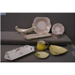 Selection of collectibles including Shelley Hedgerow sandwich plates and cup and saucer, selection o