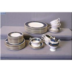 Selection of Wedgwood dinnerware including settings for eight of dinner plates, side plates, bread a