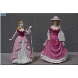 Two small Royal Doulton figurines including Summer Breezes HN 4587 and Vicki HN4774