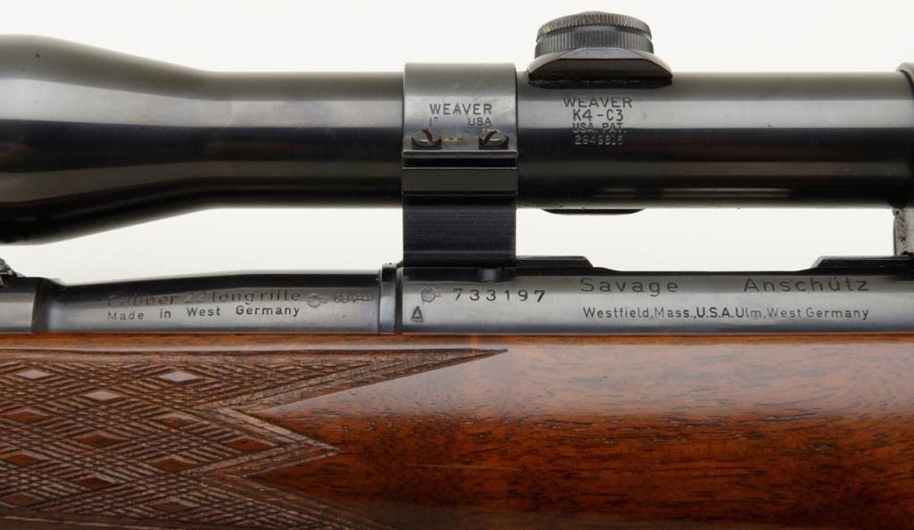 Savage Anschutz Model 54 Sporter bolt action rifle, cal  22 LR, serial  #733197  This rifle is in ver