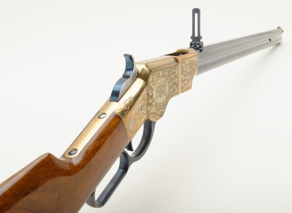 Italian Uberti copy of a Henry lever action rifle, 200th Constitution  Commemorative,  44-40 cal , 24