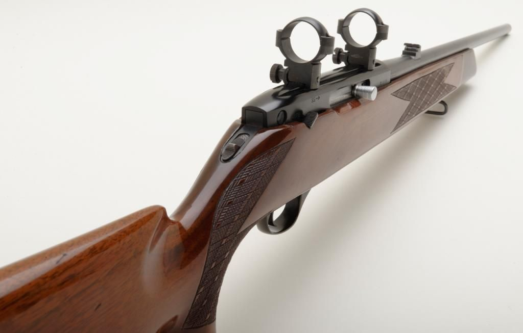 Weatherby Mark XXII,  22 long rifle caliber semiautomatic rifle made in  Italy, serial number 21518