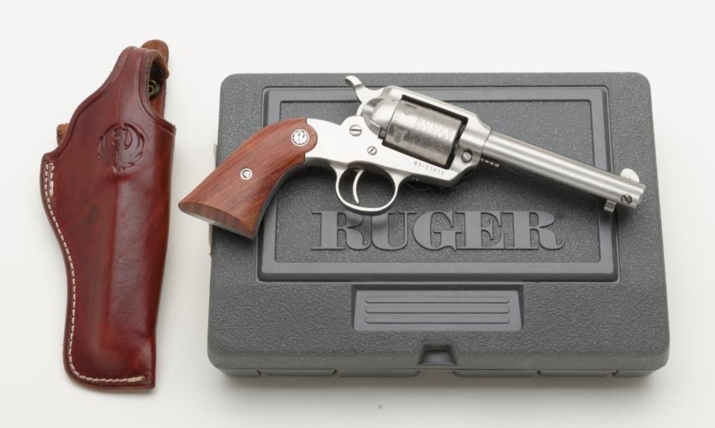 """Ruger New Bearcat,  22 LR caliber stainless steel single action revolver  with 4 ¼"""" barrel and plain"""