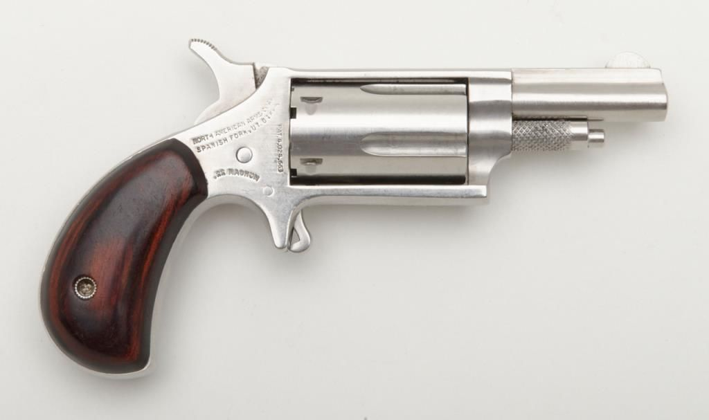 North American Arms Company,  22 Magnum single action derringer mini  revolver, serial number D49383