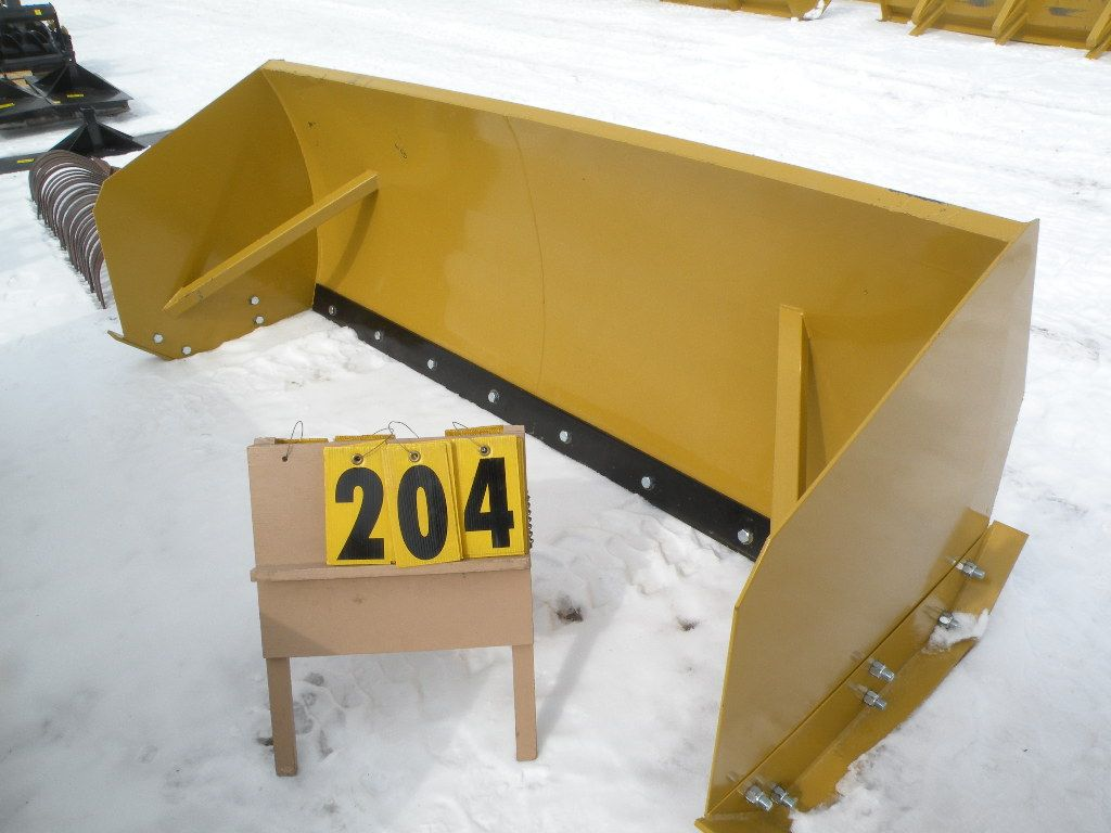 8 ft snow pusher w/metal cutting edge, skid loader mount -New