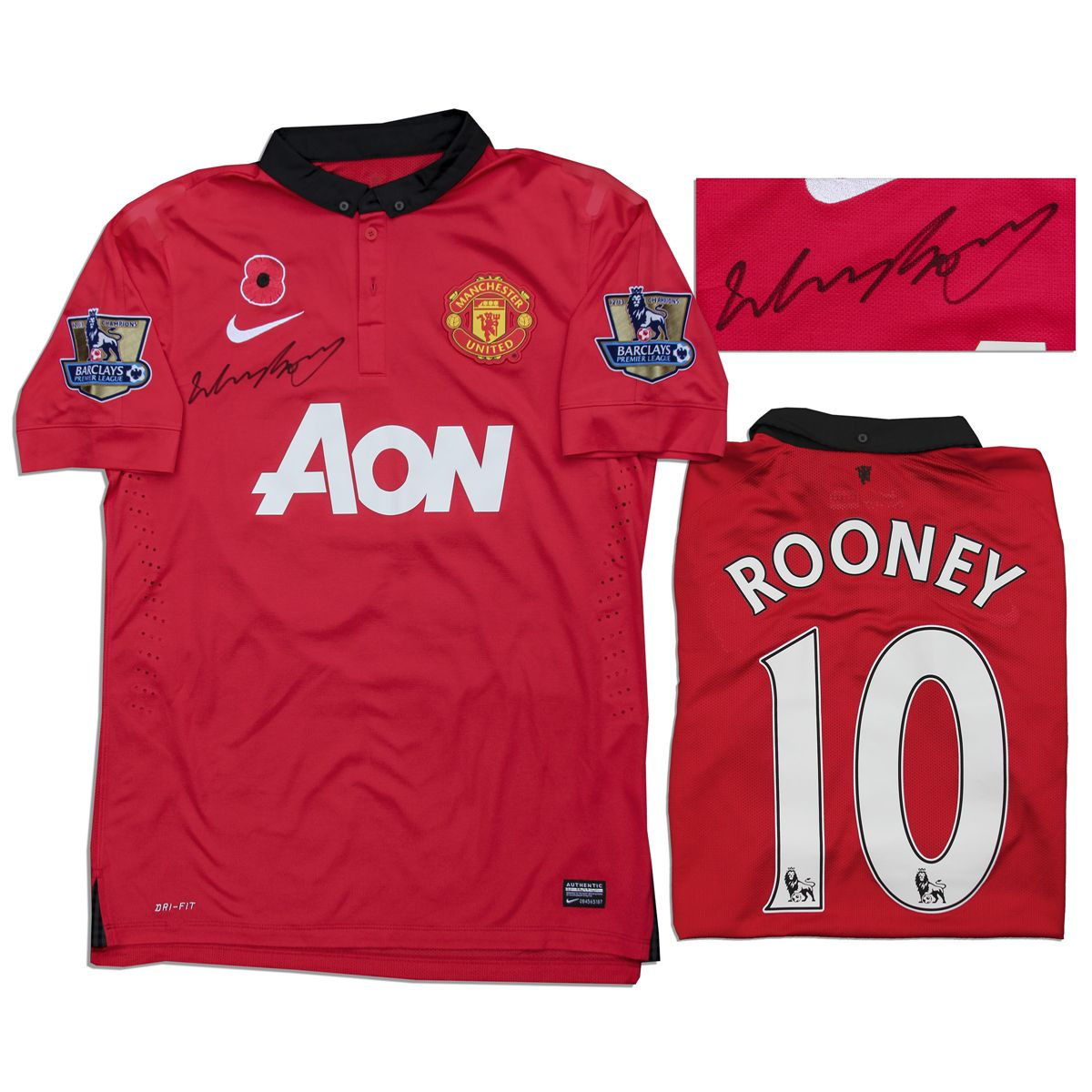 Manchester United Football Shirt Match Worn and Signed by Wayne ...