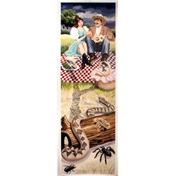 Disney Haunted Mansion Stretching Portrait - Picnic Snake, Scorpion, Spiders