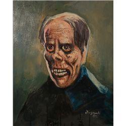 Brzezinski Painting of Lon Chaney from Phantom of the Opera