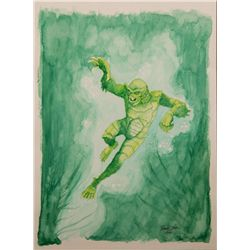 Frank Dietz  Watercolor of the Creature from the Black Lagoon