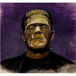 Russ Jones Painting of Boris Karloff as Frankenstein