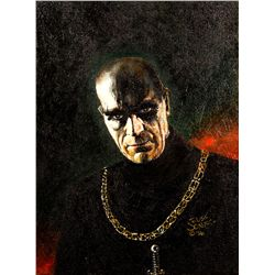 Russ Jones Painting of Boris Karloff from Tower of London