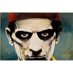 Russ Jones Painting of Boris Karloff from The Mummy