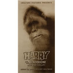 Harry and the Hendersons Limited Edition 25th Anniversary Screen Print