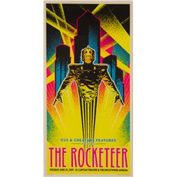 The Rocketeer 20th Anniversary D23 Limited Edition Blacklight Screen Print