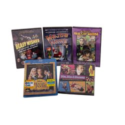 Collection of DVDs and CDs from Creature Features