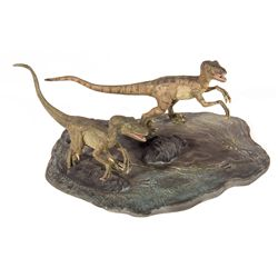 Jurassic Park The Lost World Velociraptors Model Kit Display