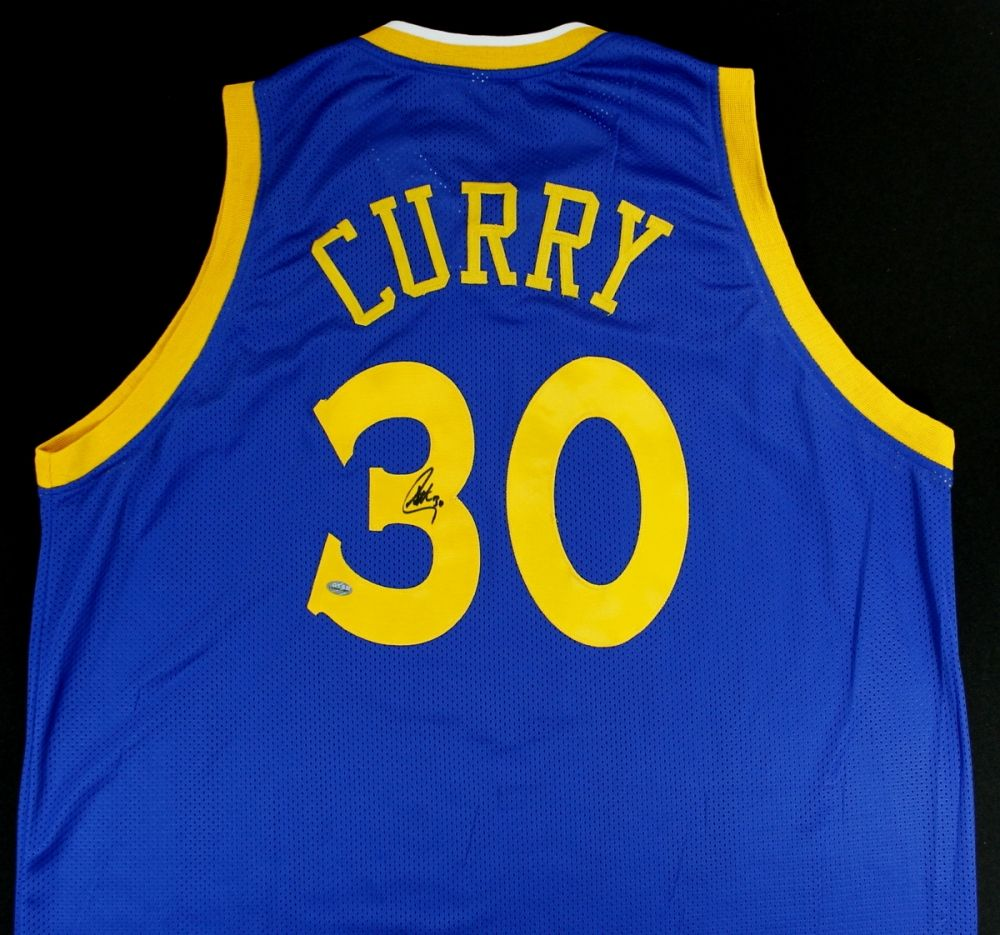 Image 1   Stephen Curry Signed Golden State Warriors Jersey (Stephen Curry  Hologram) 56822aa7b