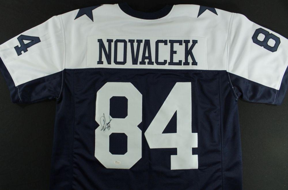 size 40 00673 1cefd Jay Novacek Signed Cowboys Jersey (JSA COA)