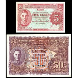 Board of Commissioners of Currency, 1941 Issue Banknote Pair.