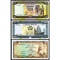 Banco Nacional Ultramarino, 1984-1992 Issue High Grade Banknotes.
