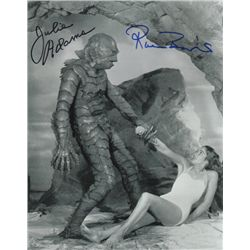 Julie Adams and Ricou Browning  Creature from the Black Lagoon  Signed 8x10 Photo