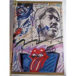 The Rolling Stones  Signed Original 1989 Rock N' Roll Hall of Fame Program