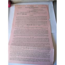Tina Turner 1977 Original ICM Contract Signed Martha Nell