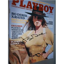 July 1984 Playboy Magazine Signed by Bo Derek