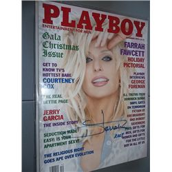 December 1995 Playboy Magazine Signed by Farrah Fawcett
