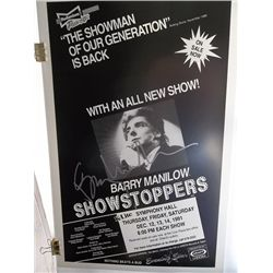 Barry Manilow Signed Original 1991  Showstoppers  Concert Poster
