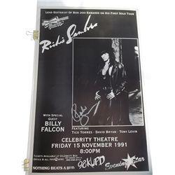 Richie Sambora Signed Original 1991 Solo Concert Poster