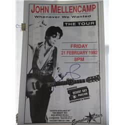 "John Mellencamp Original 1992 ""Whenever We Wanted"" Concert Tour Poster"