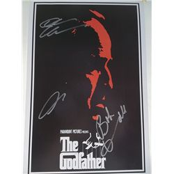 """The Godfather"" 11x17 Poster Signed by Robert Duvall, Diane Keaton, Al Pacino"
