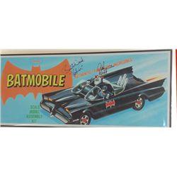 "Adam West, Burt Ward Signed ""Batmobile"" Lithograph"