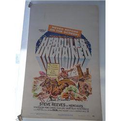 "Steve Reeves Signed ""Hercules Unchained"" Original Window Card"