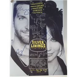 "Robert DeNiro, Jennifer Lawrence, Bradley Cooper Signed ""Silver Linings Playbook"" 13x17 Photo"