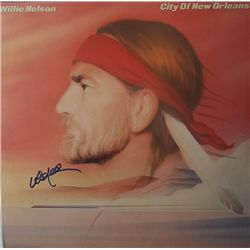 """Willie Nelson """"City of New Orleans"""" Signed LP"""