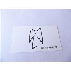 "David Boreanaz ""Angel"" Prop Business Card"