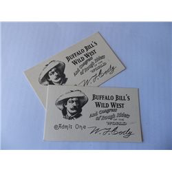 """""""Back to the Future III"""" Set of Prop Buffalo Bills Wild West Show Tickets"""