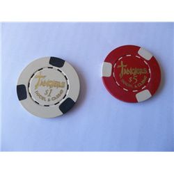 """""""Casino"""" Pair of Screen Used Prop Poker Chips"""