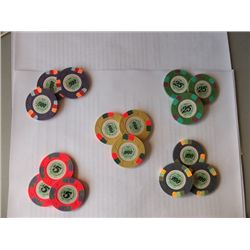"""""""License to Kill"""" Three Sets of Screen Used Prop Poker Chips"""