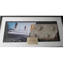 """""""Titanic"""" Framed Piece of Boat Hull from Film Set"""