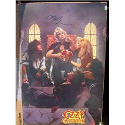 Ozzy Osbourne Signed Vintage 80s 24x36 Poster